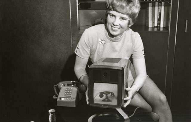 Un'immagine promozionale del Picturephone Mod II