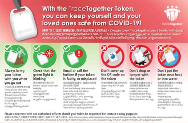 TraceTogether Token è il dispositivo indossabile di Singapore per il contact tracing