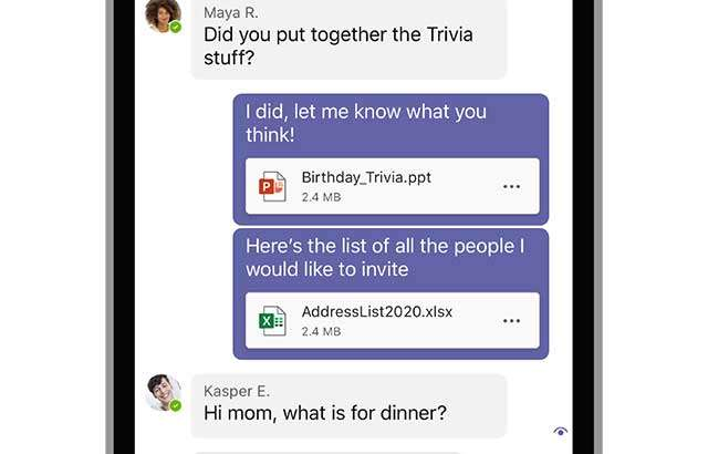 Microsoft Teams: condivisione documenti nelle chat su mobile