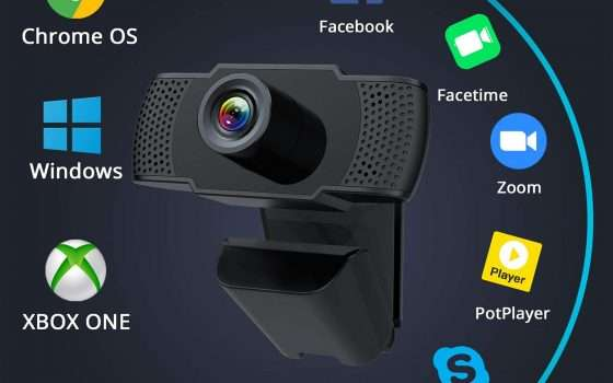 Webcam FHD per Zoom, Meet, Teams e Skype in offerta
