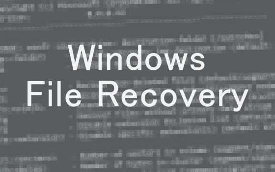 Windows File Recovery per il recupero file su PC