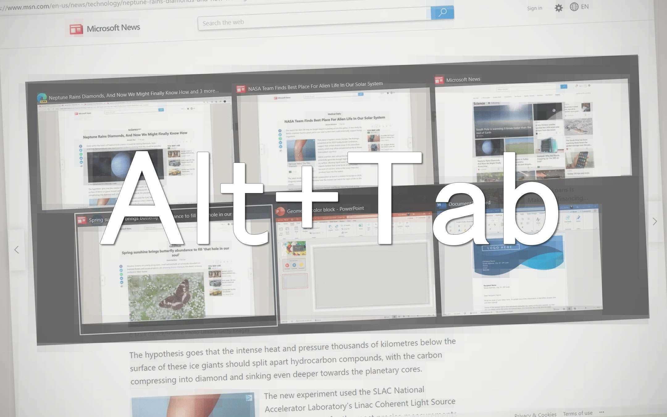 Windows 10: Alt+Tab