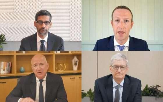 Bezos, Zuck, Pichai e Cook: cinque ore al Congresso