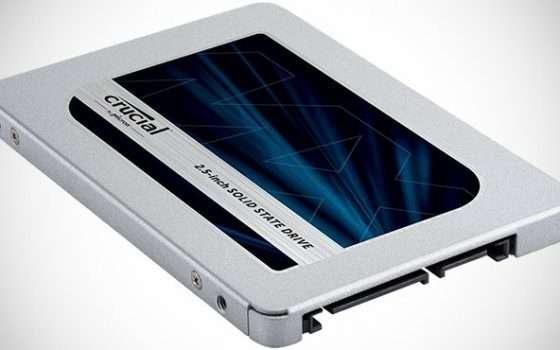 SDD Crucial MX500 da 1 TB oggi in offerta a -31%