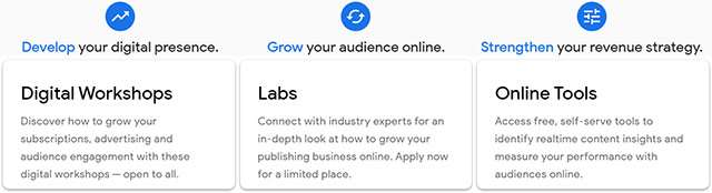 La proposta del Digital Growth Programme che fa parte della Google News Initiative