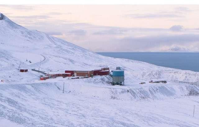 La location che ospita il codice di GitHub nell'Artico