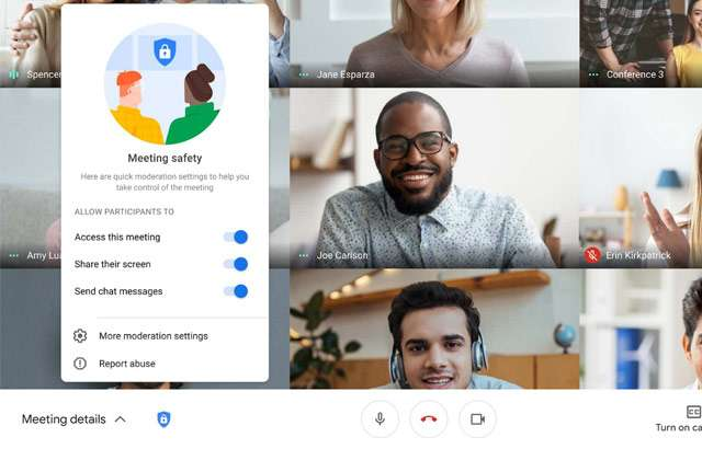 G Suite: Google Meet Safety Locks