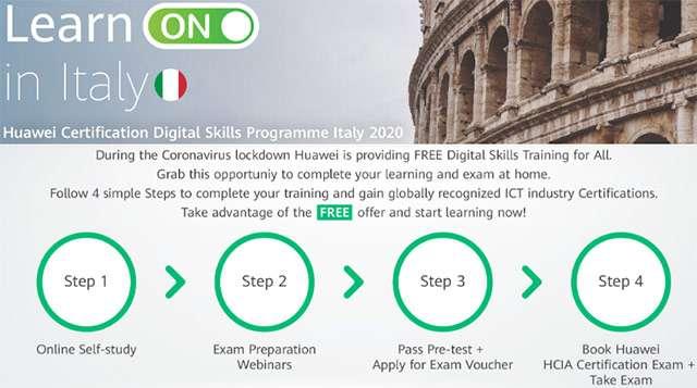 Huawei: il programma di formazione Learn ON in Italy