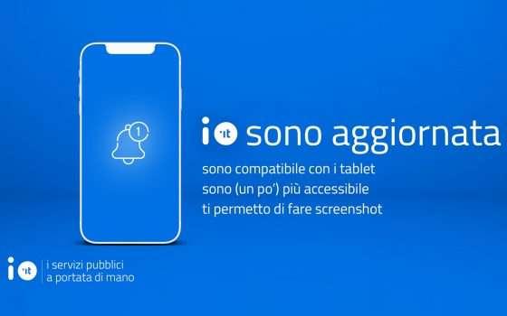IO, nuovo importante aggiornamento dell'app
