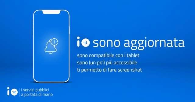 Aggiornamento app IO