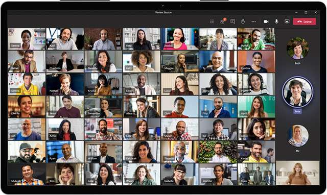 La modalità Large Gallery di Microsoft Teams