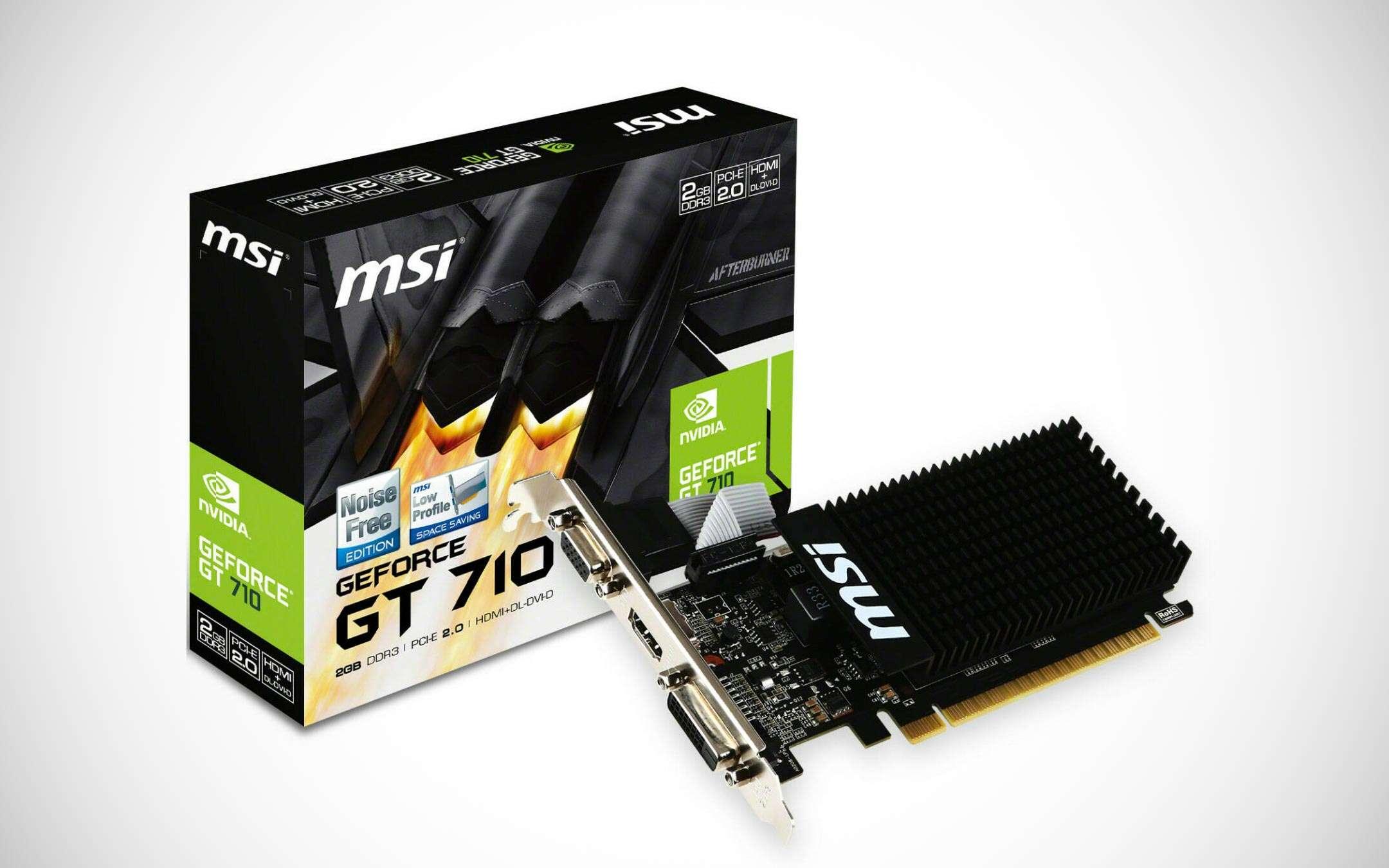 The MSI GeForce GT 710 card on eBay