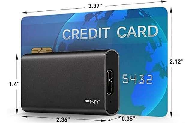 La SSD portatile di PNY da 240 GB
