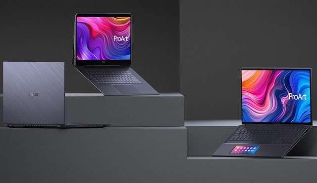 I laptop della linea ASUS ProArt StudioBook