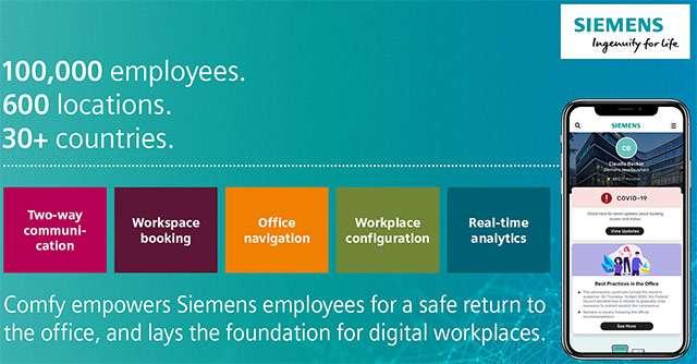 Comfy, l'applicazione per il rientro in ufficio di Siemens