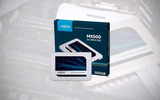 SSD Crucial da 500 GB in sconto su eBay e Amazon