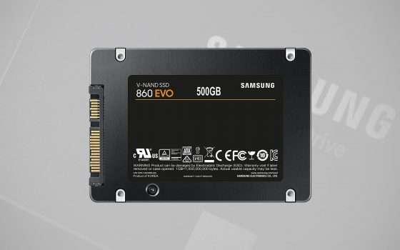 Offerta SSD: Samsung 860 EVO da 500 GB a € 44,99