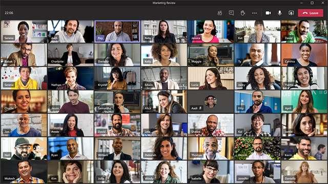 In 49, tutti insieme in riunione nell'interfaccia di Microsoft Teams