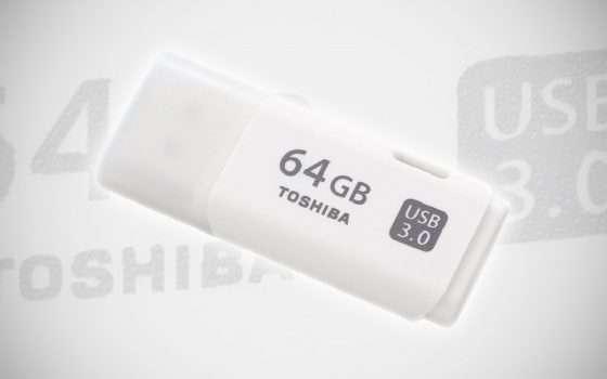 La pendrive Toshiba da 64 GB e USB 3 a -69%