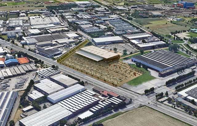 Il nuovo deposito di smistamento Amazon a Grugliasco, nei pressi di Torino