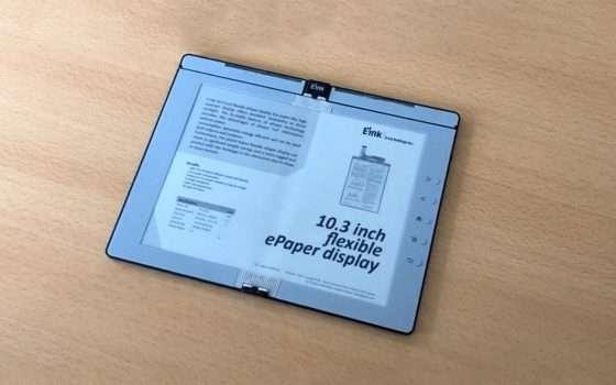 Un eBook reader con schermo pieghevole da E Ink