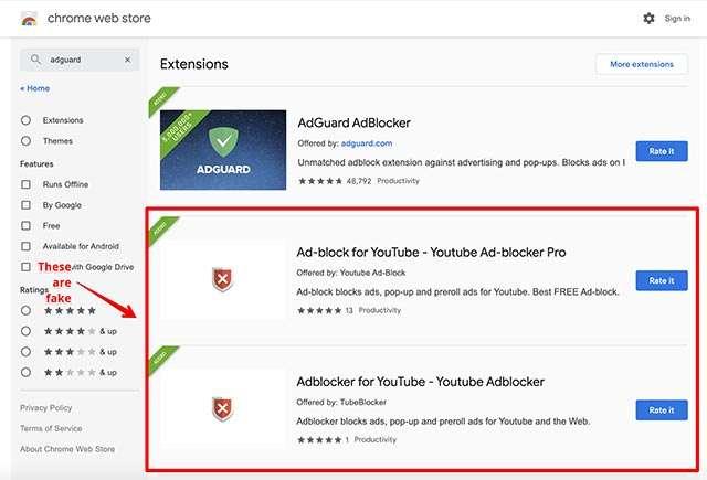Alcune delle estensioni malevole scoperte su Chrome Web Store