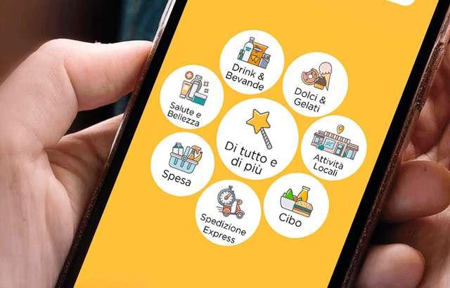 La sezione Attività Locali nell'app di Glovo