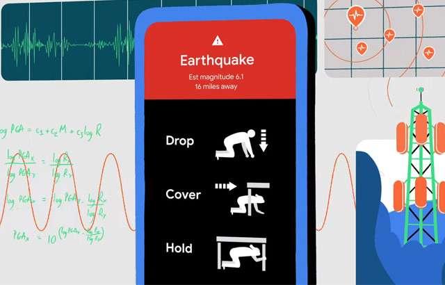 Gli avvisi di Google sui terremoti
