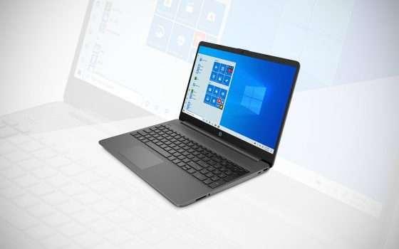 -20% per il laptop HP 15s in offerta su Unieuro