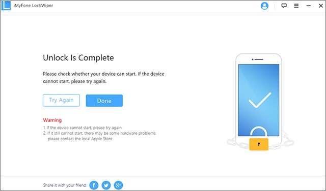 iMyFone LockWiper: lo sblocco del dispositivo