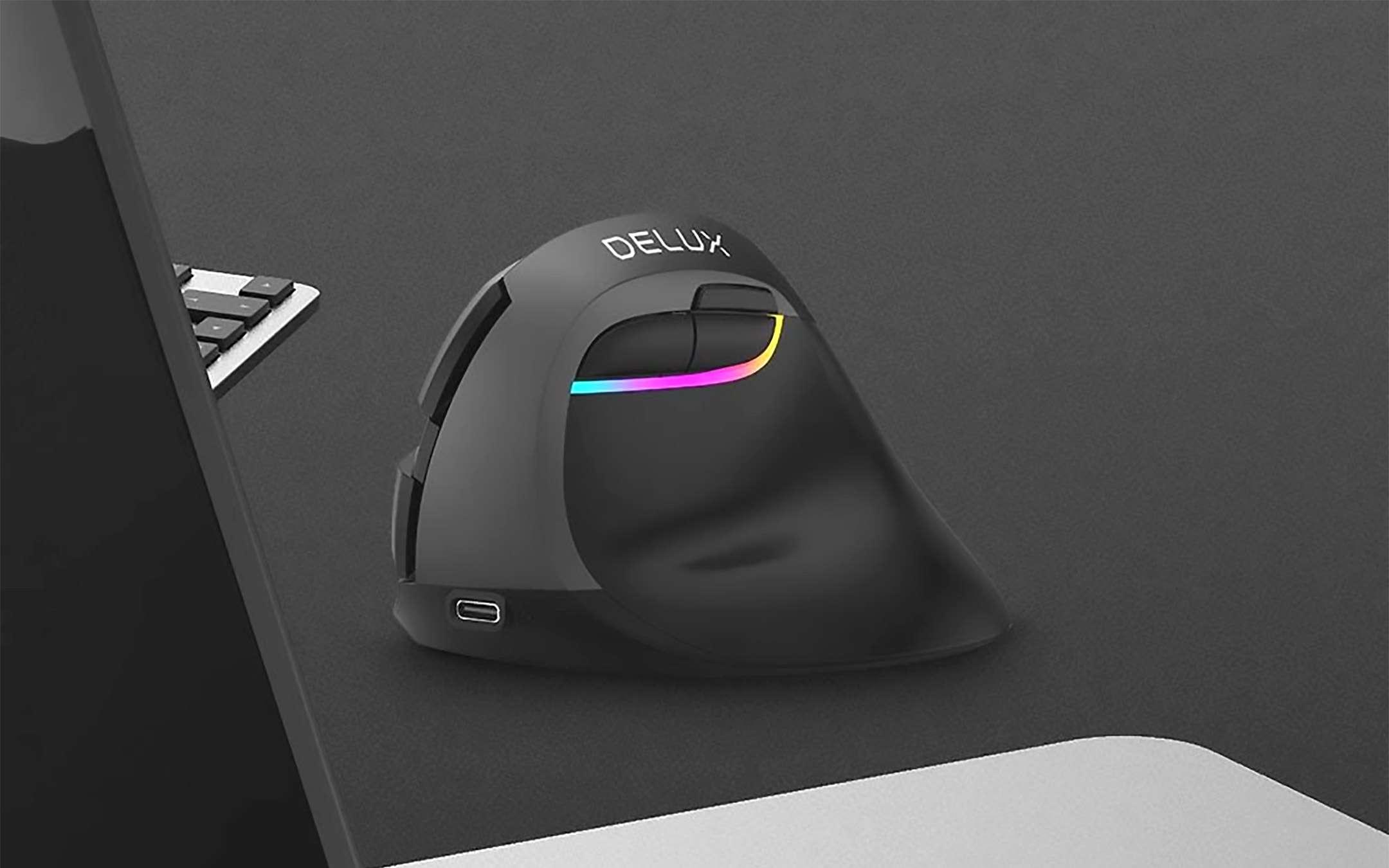 DELUX, mouse verticale