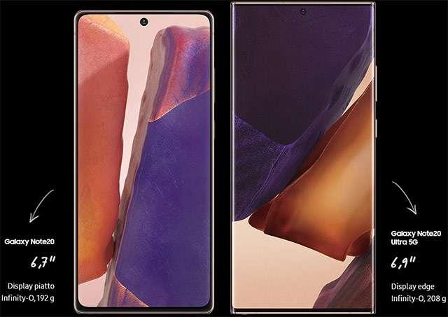 Samsung Galaxy Note20 e Galaxy Note20 Ultra 5G