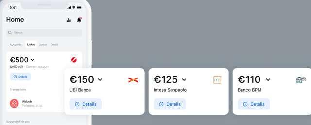 Tutti i conti bancari nell'app di Revolut
