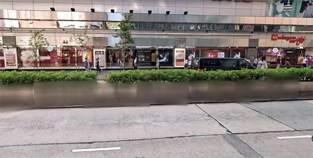 L'immagine di Street View con effetto blur
