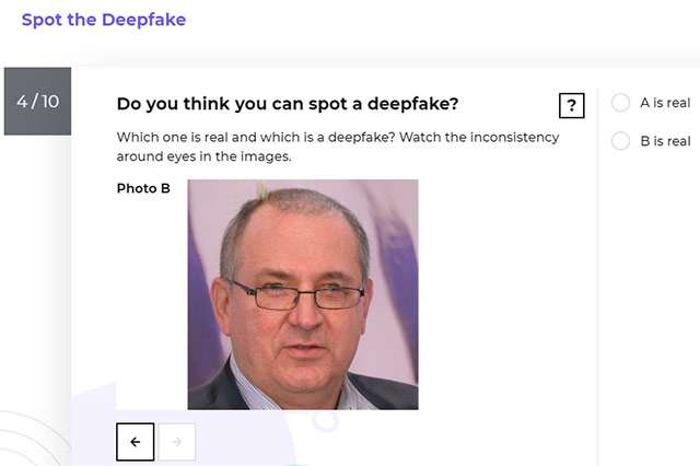 Il quiz interattivo di Microsoft sui deepfake