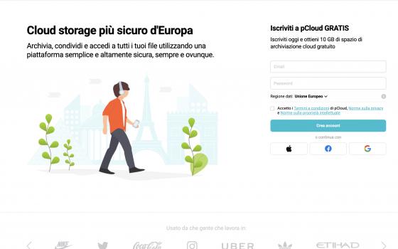 pCloud: interfaccia