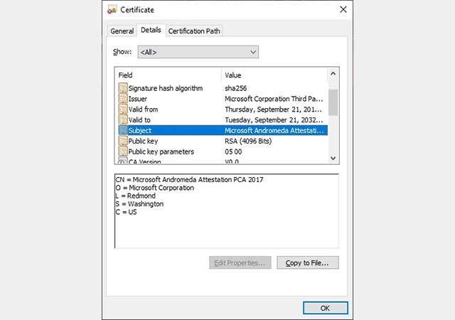 Il riferimento al sistema operativo Andromeda nel firmware di Surface Duo