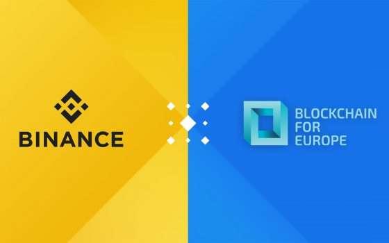 L'exchange Binance nella Blockchain for Europe