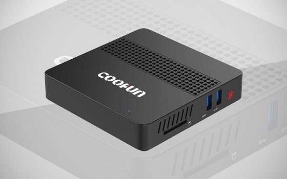 Mini PC Coofun con CPU Intel e 8 GB RAM in offerta