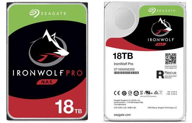 Il disco fisso Seagate IronWolf Pro HDD da 18 TB