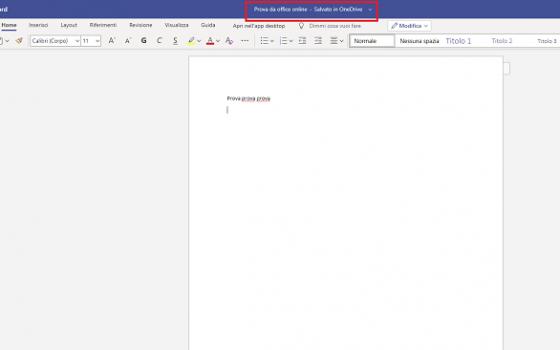 documento Office online