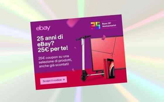 25 euro di sconto per i 25 anni di eBay