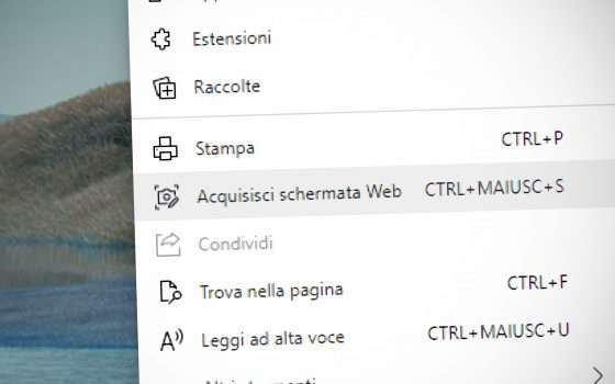 Edge, Web Capture: così si fa uno screenshot
