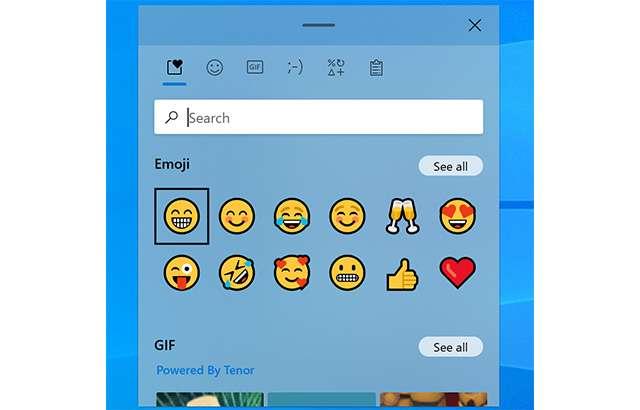 Il Pannello Emoji di Windows 10