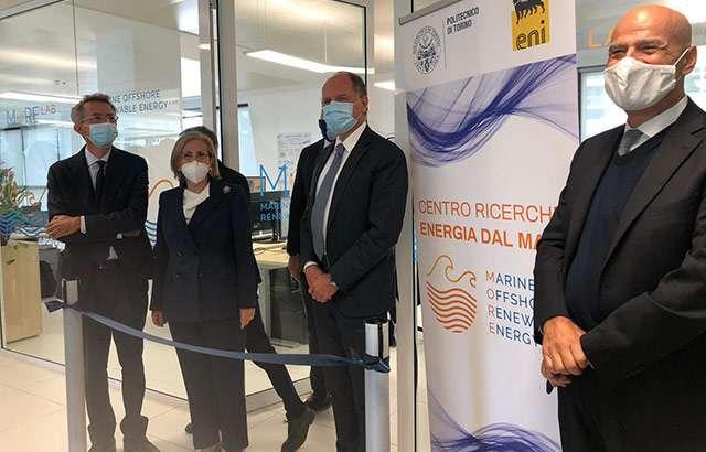 L'inaugurazione del laboratorio di ricerca congiunto tra Politecnico di Torino ed Eni per l'innovazione nel settore delle energie rinnovabili marine