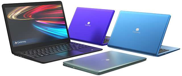 Alcuni dei nuovi laptop Gateway portati sul mercato da Acer