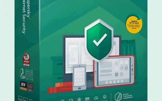 Kaspersky Internet Security 2020 oggi a -60%