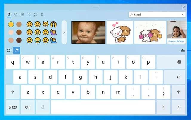 La tastiera virtuale di Windows 10, nuovo layout