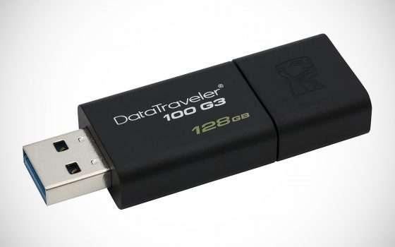 Pendrive Kingston USB 3 da 128 GB a -42% su Amazon