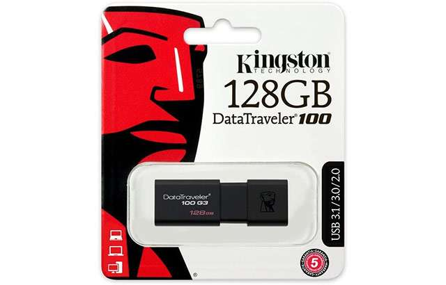 La pendrive Kingston DataTraveler 100 da 128 GB